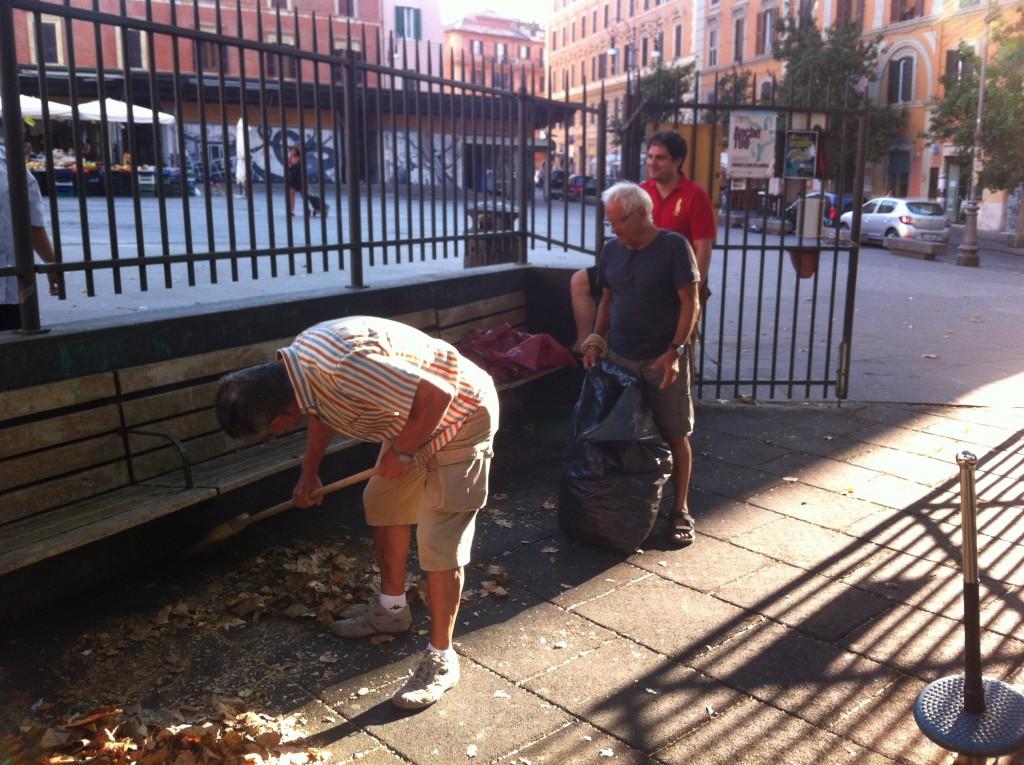 Trastevere volontariato decoro urbano ago2016-2
